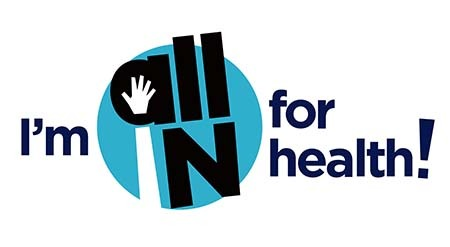 I'm ALL IN for Health Indiana logo