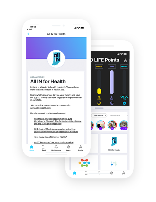 All IN for Health app screen